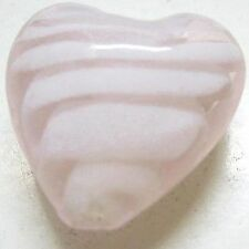 4 Pieces Lampwork Heart Glass Beads - 20mm - A3974