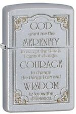 Zippo 28458 serenity prayer satin chrome Lighter