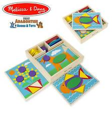 Melissa doug bois débutant motif bloc forme early learning puzzle montessori