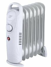 MINI 700W OIL FILLED RADIATOR PORTABLE ELECTRIC THERMOSTAT 6 FIN HEATER COMPACT