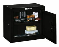 Stack-On GCB-500 Steel Gun Cabinet Pistol & Ammo Black Security Safe