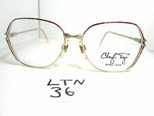 Nos 1980s CHERYL TIEGS Eyeglass Frame by Welling Eyewear Red Gold CT92 (LTN-36)