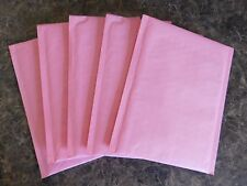 100 Pastel Pink 6x10 Kraft Bubble Mailer #0 Self Seal Envelope Padded Mailer