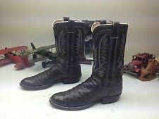 VINTAGE M. L. LEDDY USA BROWN OSTRICH LEATHER WESTERN ENGINEER BOSS BOOTS 10.5 D