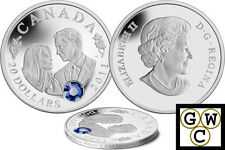 2011 $20 Silver Coin Wedding Celebration-William and Catherine .9999 Fine(12807)