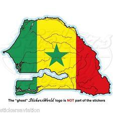 SÉNÉGAL Carte - Drapeau, Ouest Afrique , Dakar - Sénégal Vinyle Autocollant