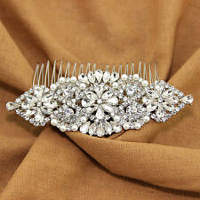 Vintage Bridal hair comb Wedding head piece Pearl hair comb Wedding gift