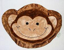 Happy Blankie Brown Flip The Monkey Baby Security Blanket Silky Satin
