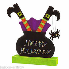 Halloween Stuck Wicked Witch Cauldron Party Table Centrepiece Decoration
