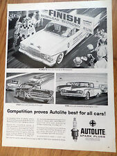 1960 Autolite Ad Plymouth wins Minneapolis Chevy in Chicago Ford Darlington SC