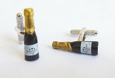 Champagne Bottle Cufflinks in Gift Box  Onyx-Art London CK 866