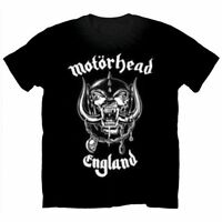 Official MOTORHEAD England T-shirt Black/2-Sided Sizes S to XXL Lemmy Warpig
