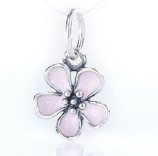 PINK CHERRY BLOSSOM DANGLE Sterling Silver European Charm Bead FL1