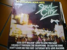 LP SOUL CITY 20 ORIGINAL SOUL HITS KTEL 1003 MARVIN GAYE DONNA SUMMER O'JAYS EX