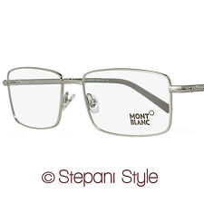 Montblanc Rectangular Eyeglasses MB575 016 Size: 58mm Palladium/Gray 575