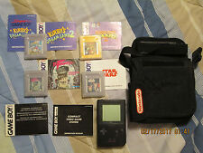 Nintendo Game Boy Pocket Black with Original Carry Case and 6 Games Bundle