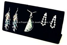 """1 Black 3 Pairs Earring or 3 Pendant Chain Display Stand 6""""W x 1 5/8""""D x 2 3/4""""H"""