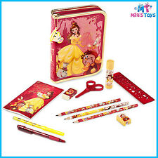 Disney Beauty and the Beast Belle Zip-Up Stationery Kit pencils marks ruler