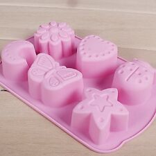 Silicone 3D Cake Moon Mold Ice Tray Kids Chocolate Pop Out Fondant Baking Mould
