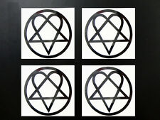 HIM Heartagram H.I.M.  Logo 4x vinyl Sticker Decal Bumper Hi-Q Choose colors!