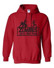 ZOMBIES HATE FAST FOOD Walking Dead RUNNING ZOMBIE Funny Men's Hoodie