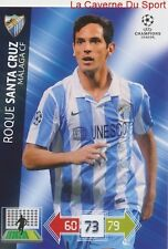 U64 ROQUE SANTA CRUZ MALAGA CF  CARD CHAMPIONS LEAGUE ADRENALYN 2013 PANINI