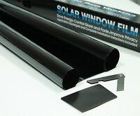 ULTRA SUPER DARK BLACK 99% DARKER CAR WINDOW TINTING FILM 6m x 75cm ROLL TINT