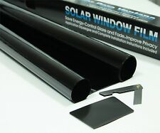 SUPER DARK BLACK 95% DARKER CAR WINDOW TINTING FILM 6m x 75cm ROLL TINT + KIT