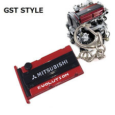 mitsubishi evolution Engine Valve Cover Keychain CAR Keyring JDM style