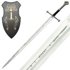 Medieval Sword with Wooden Wall Plaque