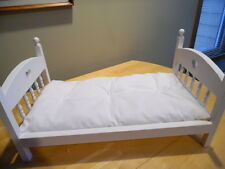 """White 18"""" Doll Bed """"Mattress Only"""" made for American Girl Our Generation Dolls"""