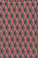 Autumn Harvest Pink Fans Quilt Fabric - Free Shipping - 1 Yard