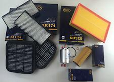 SET FILTRI / KIT DI ISPEZIONE 7 x SCT GERMANIA W210 200 COMPRESSORE 163 CV