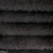 "1/6 yard INTERCAL Black 1/2"" Ultra-Sparse Curly Matted Mohair Teddy Bear Fabric"