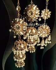 Earrings  Indian jewellery Jewelry Kundan Style Jhumka Tika