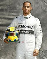Lewis Hamilton Mercedes Pose 10x8 Photo