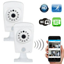 2 Pack Wireless HD 720P Wi-Fi IP Security Camera Audio Night SD Card Record b2i