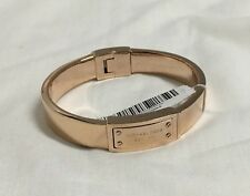 MICHAEL KORS Rose Gold-tone Hinge Bangle Bracelet MKJ2401 NEW