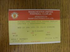 Billete De 23/01/1991: Manchester United v Southampton Football League Cup replay []