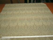 16 1/2 yards of horizon blue chenille paisley upholstery fabric r1441