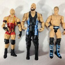 Lot Of Three WWE Mattel Wrestler Action Figures RyBack, Big Show, Jericho