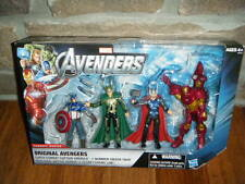MARVEL ORIGINAL AVENGERS FIGURES THOR CAPTAIN AMERICA IRON MAN LOKI CONCEPT PACK