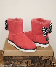 UGG Women's DISNEY SWEETIE BOW Boot LIMITED EDITION 8US RED SUEDE NIB