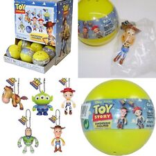 2  Toy Story PLASTIC SURPRISE EGG BALL WITH Swinging Figure Toy!