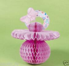 3 Baby Shower Party Decoration Table CENTERPIECE or Hang PINK GIRL PACIFIERS