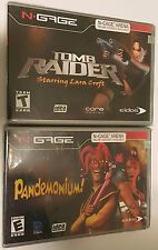 2 NEW GAMES TOMB RAIDER & PANDEMONIUM GAME FOR NOKIA N-GAGE NGAGE N GAGE