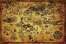 Legend of Zelda Poster - HYRULE MAP - New Zelda gaming poster PP33716