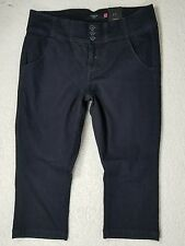 New TORRID Denim womens Jeans CAPRI sz 18 dark stretch ~ high waist NWT