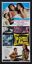 CINEMA-locandina E LA DONNA CREO' L'AMORE villard,despax,lepvrier,COLIN