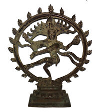 "8.7 "" Old Unique RARE BRONZE Statue of Dancing Lord Nataraja from South India"